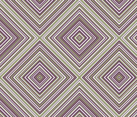 diagonal stripe carlos- green, plum, white fabric by anino on Spoonflower - custom fabric