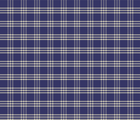 Plaid 1 - denim fabric by thecalvarium on Spoonflower - custom fabric