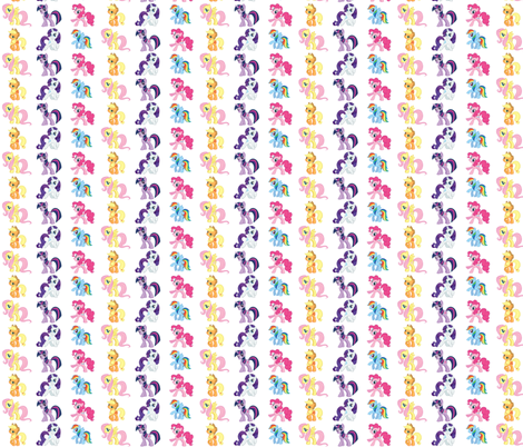 Pony2_Collage fabric by thetutusweetboutique on Spoonflower - custom fabric