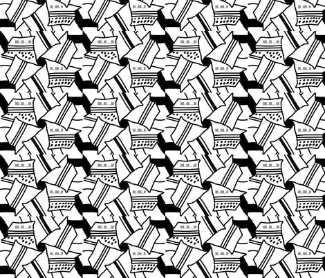 graphic_typewritter_print_ designer Lydia Falletti  fabric by artsylady on Spoonflower - custom fabric