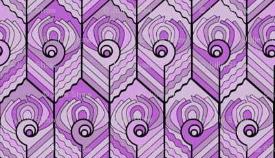 Art Deco Peacock - Lilac