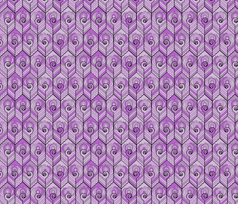 Art Deco Peacock - Lilac fabric by jasmo on Spoonflower - custom fabric