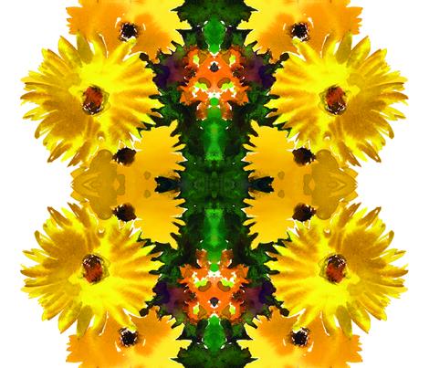 cestlaviv_bigyellow for NatGrace fabric by cest_la_viv on Spoonflower - custom fabric
