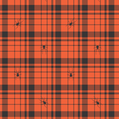 HalloweenSpiderPlaid