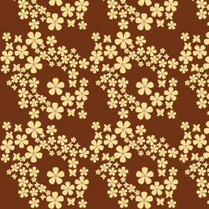swiss_dots_floral-butterfly- brown,yellow, pink