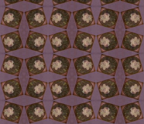 Distressed Fungi Floral block fabric by tequila_diamonds on Spoonflower - custom fabric