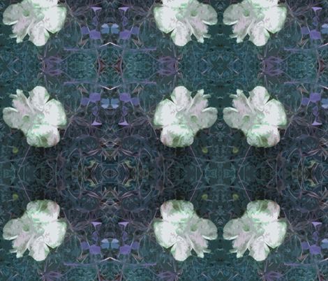 Fungi Floral Peacock fabric by tequila_diamonds on Spoonflower - custom fabric