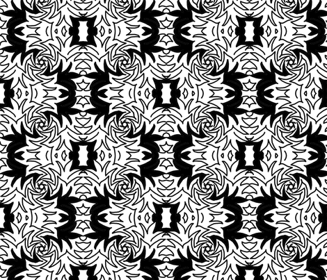 B_W  designer Lydia Falletti  fabric by artsylady on Spoonflower - custom fabric