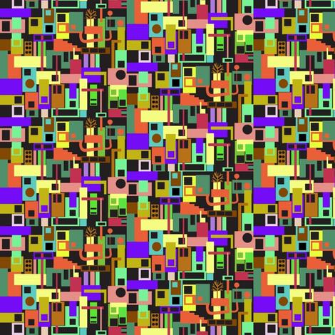 Tiny City 2 fabric by boris_thumbkin on Spoonflower - custom fabric