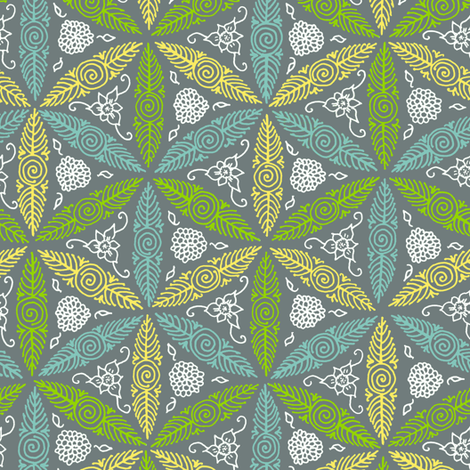 pysanky floral - flights of fancy fabric by weavingmajor on Spoonflower - custom fabric