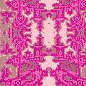 Escher pagoda pink