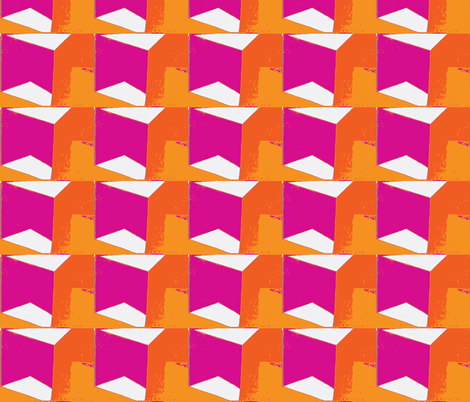 roofline hot pink fabric by kerrysteele on Spoonflower - custom fabric