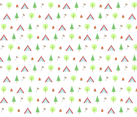 retro_camping fabric by ginghamcherry on Spoonflower - custom fabric