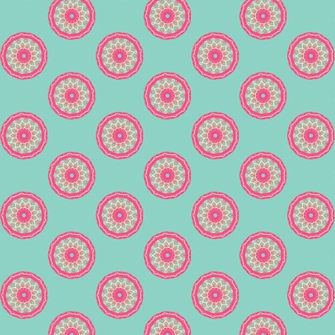 circle fancy aqua fabric by kerryn on Spoonflower - custom fabric