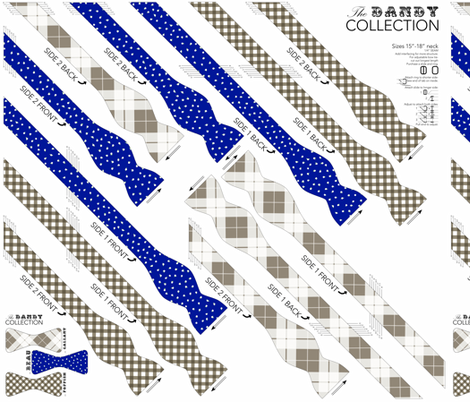 BOWTIE DIY: Dandy Collection fabric by avelis on Spoonflower - custom fabric