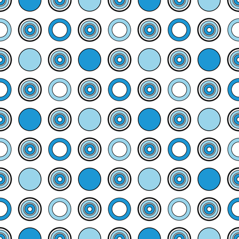 Blue Dots fabric by jjtrends on Spoonflower - custom fabric