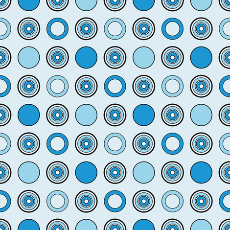 Blue Dots on Blue fabric by jjtrends on Spoonflower - custom fabric