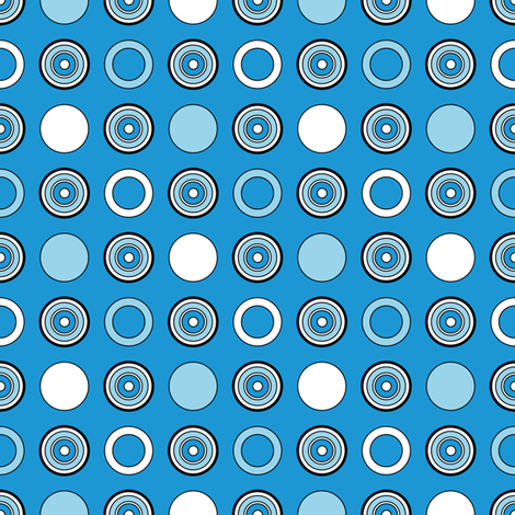 Blue Dots & Hoops fabric by jjtrends on Spoonflower - custom fabric