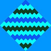 Chevron and Diamonds blue