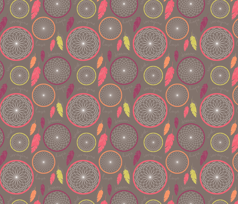 Dreamcatcher fabric by rosiesimons on Spoonflower - custom fabric