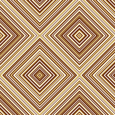 diagonal stripe_carlos_ brown, white, yellow fabric by anino on Spoonflower - custom fabric