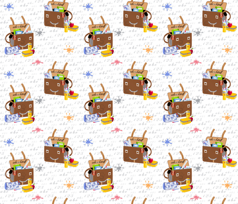 School stuff fabric by alfabesi on Spoonflower - custom fabric