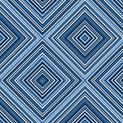 diagonal stripe_carlos_ navy, blue, white fabric by anino on Spoonflower - custom fabric