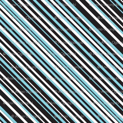 diagonal stripe_carlos_ black, white, mint, aqua