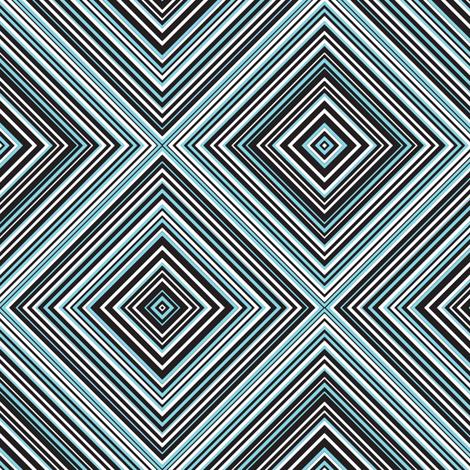 diagonal stripe_carlos_ black, white, mint, aqua fabric by anino on Spoonflower - custom fabric