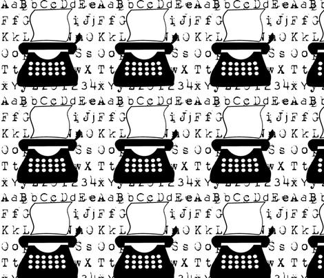 typewriter fabric by suziwollman on Spoonflower - custom fabric