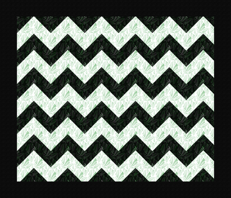 ferns_chevron_quilt fabric by suziwollman on Spoonflower - custom fabric