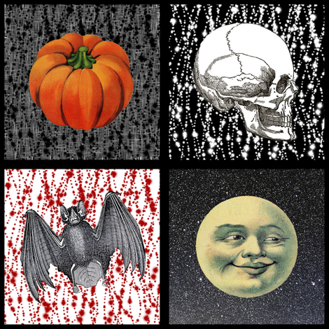 Halloween patch fabric by glanoramay on Spoonflower - custom fabric