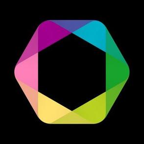 Hexagon (black bkg)