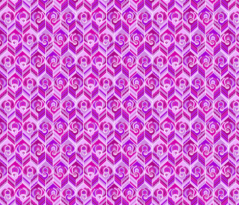 Art Deco Peacock - Pink Candy fabric by jasmo on Spoonflower - custom fabric