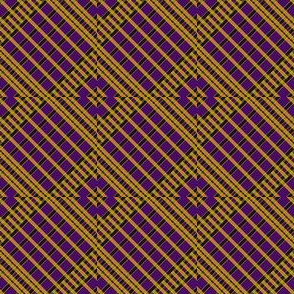 Playful Plaid Purple/Black/Yellow