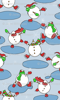 Skating Snowmen