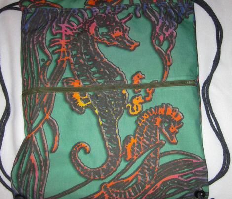 Seahorse family bag