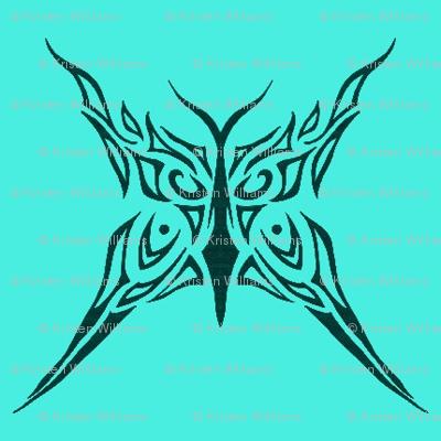 Tribal Butterfly (aqua)