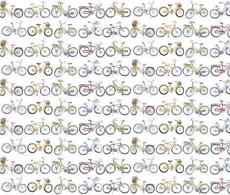Vintage Bikes fabric by lesliezemsky on Spoonflower - custom fabric