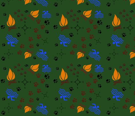 The Great Outdoors fabric by kaylaconspiracy on Spoonflower - custom fabric