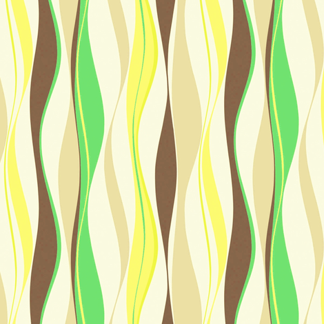 waves fabric by retroretro on Spoonflower - custom fabric