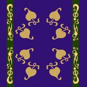 Purple Gold Filigree