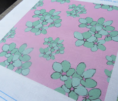 Turquoise Flowers (Violets Colourway)