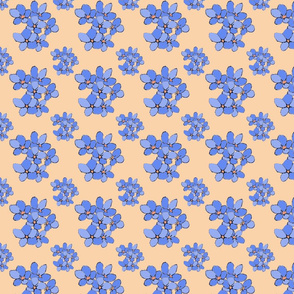 Periwinkle Flowers (Violets Colourway)