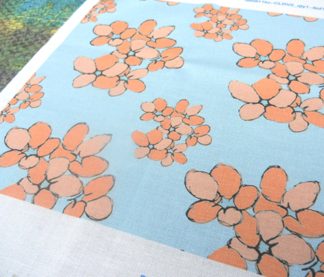 Orange Flowers (Violets Colourway)