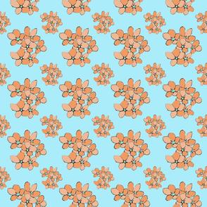 Orange Flowers (Violets Colourway)