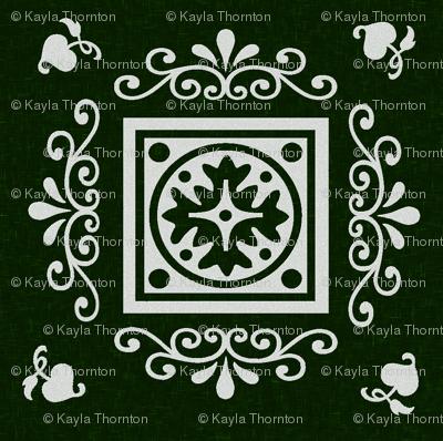 Victorian Green & Grey