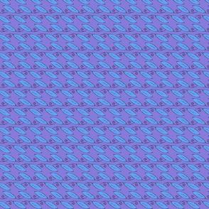Leaf Pattern, Purple & Blue