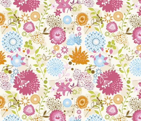 Aarde kids spring blossom pattern fabric aardekids for Kids pattern fabric