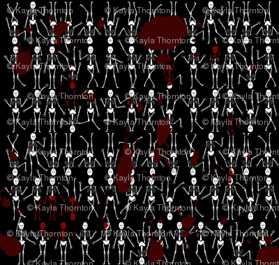 Blood Splatter Skeletons
